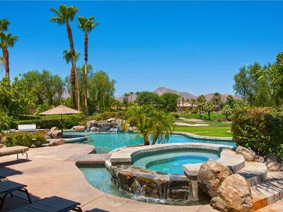 Photo for Dramatic golf course views, water features and amazing private pool.