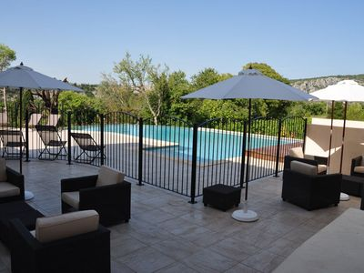 "Photo for Holiday cottage ""Aiguéze"" in a residence with swimming pool"