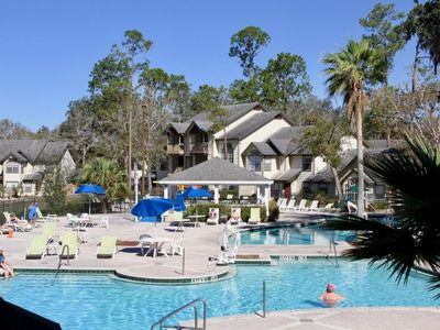 Photo for REDUCED RATE! COMFY 1BR SUITE, 3 POOLS, HOT TUB, TENNIS COURTS, SHUTTLE