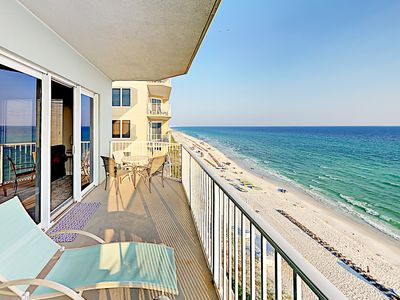 "Photo for New Listing! ""Solitude by the Sea"" w/ Gulf Views, Pool, Deluxe Master Suite"