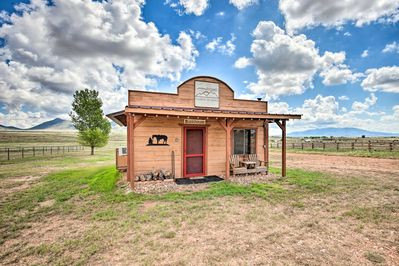 This Elgin vacation rental is settled on a horse ranch.