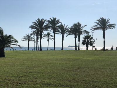 Photo for On foot of the beach. Terrace and surrounded by tranquility, climate
