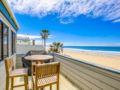 Photo for Oceanfront Upper Unit with Loft, Outdoor Deck, just 10 steps to the Beach!
