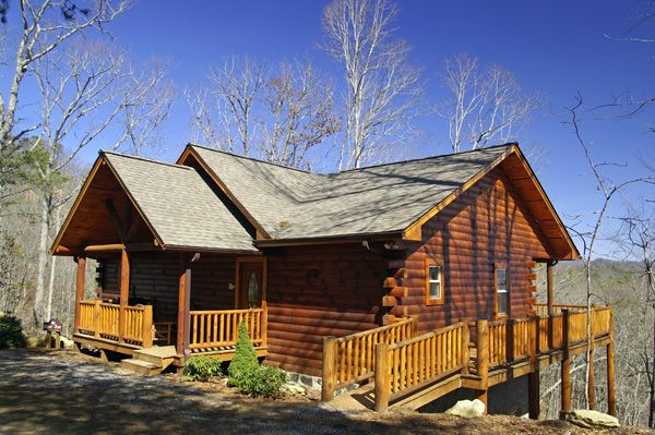 Log cabin with hot tub great views wi fi homeaway for Vacation log homes