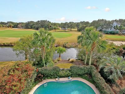 Photo for Sprawling Family Retreat by Golf Course w/ Pool, Game Room & Balconies