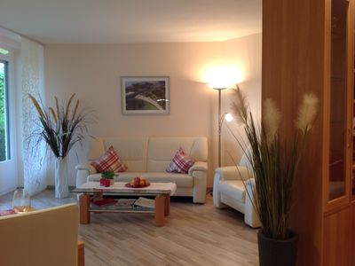 Photo for very high-quality terrace apartment, directly on the beach, with partial sea view