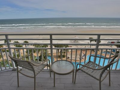 Photo for Deluxe oceanfront condo w/ pools, hot tub, & gym - snowbirds welcome!