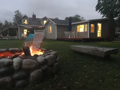 The Cottage with outdoor fire pit..