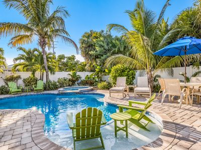 Beachside Paradise: Tropical Back Yard w/Heated Pool, Less Than 1 Block to Beach