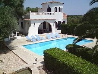 Traditional menorcan villa with large private pool set in a secluded garden