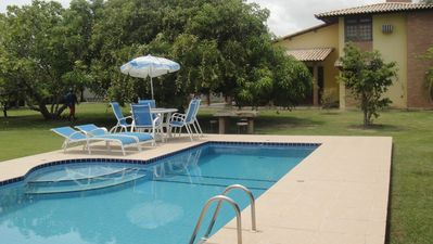 Photo for I rent beautiful beach house with swimming pool, hydro, barbecue and garden.