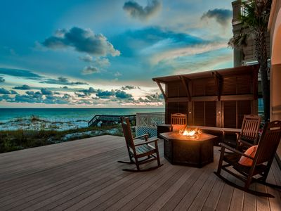 Photo for GULF FRONT -Free Bikes -Free Beach Chairs -Gulf Side Fire Pit -Elevator