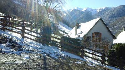 Photo for Charming chalet Pyrenees 15mn station MOURTIS WIFI hiking animals allowed