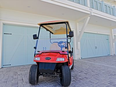 "Photo for ""Seas The Day"" at Prominence Golf Cart and 4 Bikes Included in Rental!"