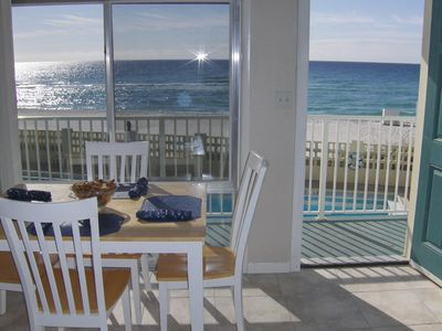 Photo for Beach Front 2BR, sleeps 8, PET-FRIENDLY with Last Minute Special!