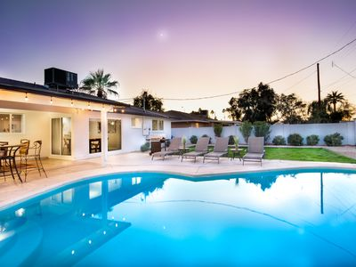 Photo for Sparkling Heated Pool, Unbeatbale Location, Upgraded Kitchen, Barbecue, More