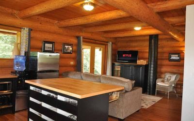 Photo for Grey Owl Lodge. Cozy log cabin with spectacular views and hot tub!