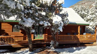 Photo for Real Log Cabin within walking distance of East Verde River