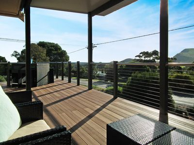 Photo for HAWKSVIEW - getaway close to beach with great ocean & hills views