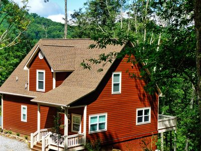 Photo for Northome: 4 BR / 3.5 BA cabin in Dillsboro, Sleeps 10