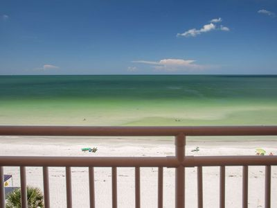 Photo for Beautifully Appointed Beachfront Condo.  Bright and Clean.  Panoramic View from the Living Room!
