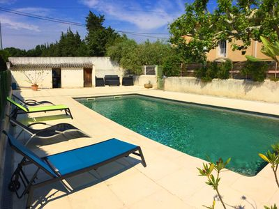 Photo for Part of a Provencal farmhouse with swimming pool enjoying a view of the Ventoux.