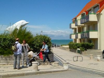 Photo for A pleasant little studio apartment with a terrace, 30 metres from the beach.