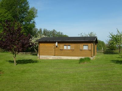 Photo for Cosy wooden holiday home in garden