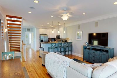 With almost 2,500 square feet, you will not feel cramped in this spacious condo within walking distance to the beach.