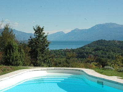 Photo for Private Apartment In Villa With Pool, pet friendly, over looking Lake Garda