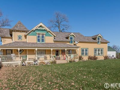 Photo for Victorian Farm House surrounded by 195 Acres of Rolling farm & animals
