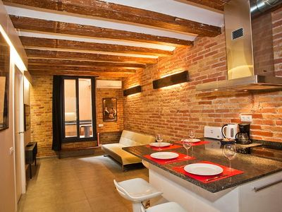 Photo for Apartment 410 m from the center of Barcelona with Internet, Air conditioning, Lift, Terrace (443099)