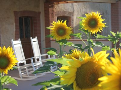 Photo for En Rouger, Le Tournesol gîte (3or4 bedrooms, air conditioned, heated pool,sauna)