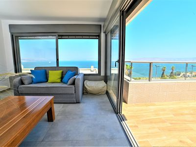 Photo for Galilee Triple Terrace 180°Overlooking Sea View