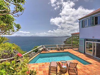Photo for Oceanfront St. Thomas Villa w/Pool,Spa&Bay Views!