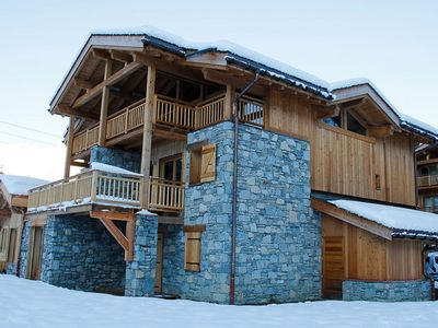 Photo for New and very luxurious chalet just 50m from the piste in Saint-Martin-de-Belleville