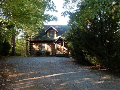 This mountain log home is a favorite for romantic getaways.