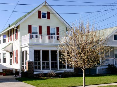 Photo for Gardens - 2 story colonial home located 2 blocks from the beach.