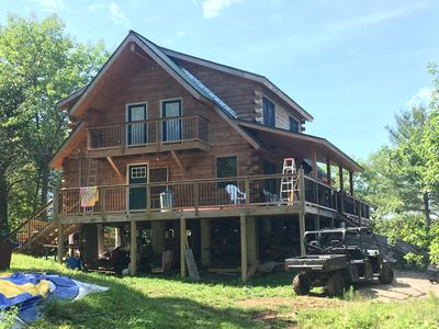 Photo for New Log Cabin on Bobs Lake - great for up to 3 families