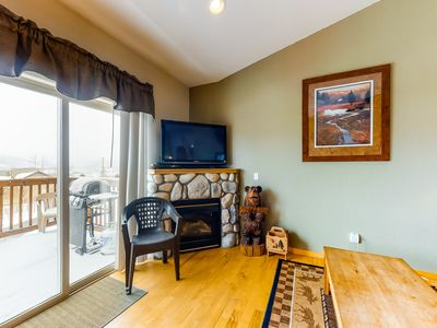 Photo for NEW LISTING! Modern, dog-friendly townhome w/ balcony & shared hot tub