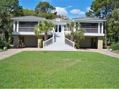 Photo for 760 Marlin Drive, Fripp Island, 2nd Row, 3 Four Seat Golf Carts Included