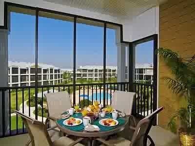 Large private balcony with great views