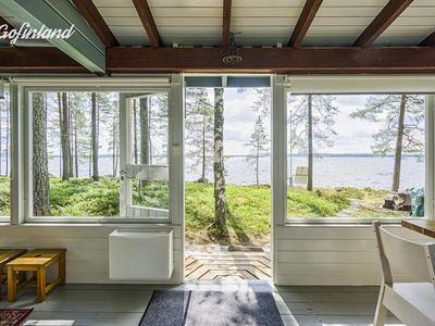 Photo for Finnish wooden house in the middle of nature and silence, on a private island.