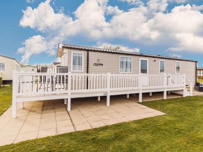Photo for Luxury caravan for hire  at Hopton Haven park with decking ref 80022W