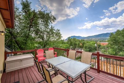 View of Cheyenne Mountain from the deck