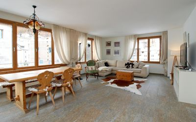 Photo for Rustic, quiet located apartment in the center of St. Moritz Bad
