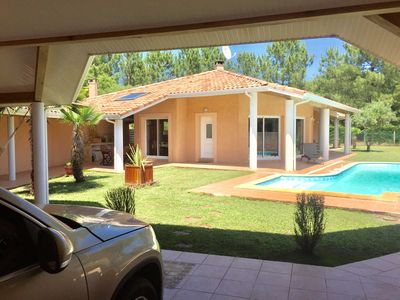 Photo for Villa Soustons Plage with pool - Marine Lake, Golf, Ocean, WIFI, Master bedroom
