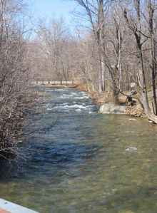 Our property includes 1/2 mile of the Hughes River