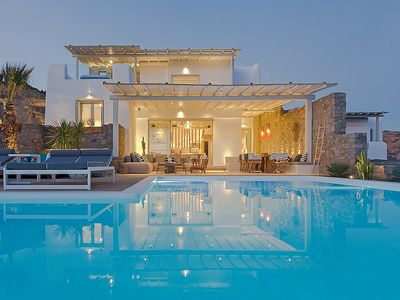 Photo for Panoramic Sea View Villa near Elia Beach with Sauna, Gym, Jacuzzi and Large Private Infinity Pool