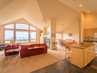Photo for Pet friendly ocean view home sleeping 10 guests in the village of Neskowin
